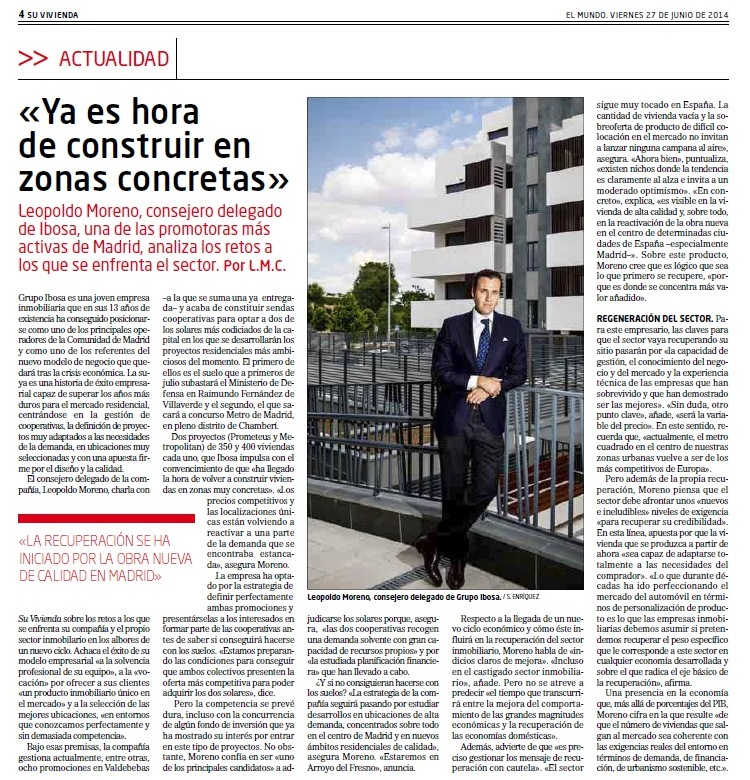 El mercado inmobiliario en Madrid se está reactivando.