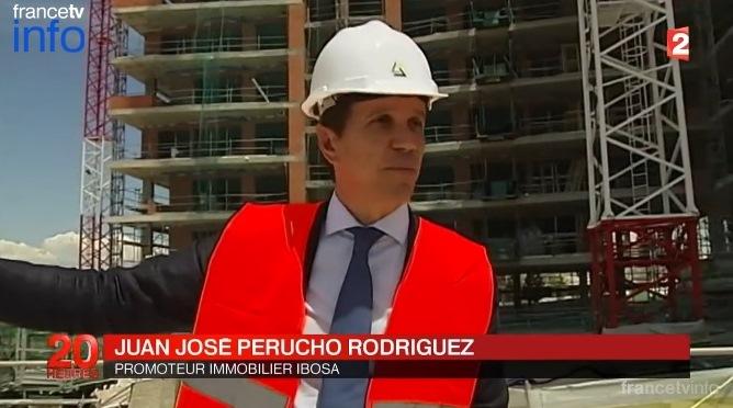 """Reportaje emitido en la televisión pública francesa """"France 2"""" acerca de la recuperación del sector Inmobiliario en España."""