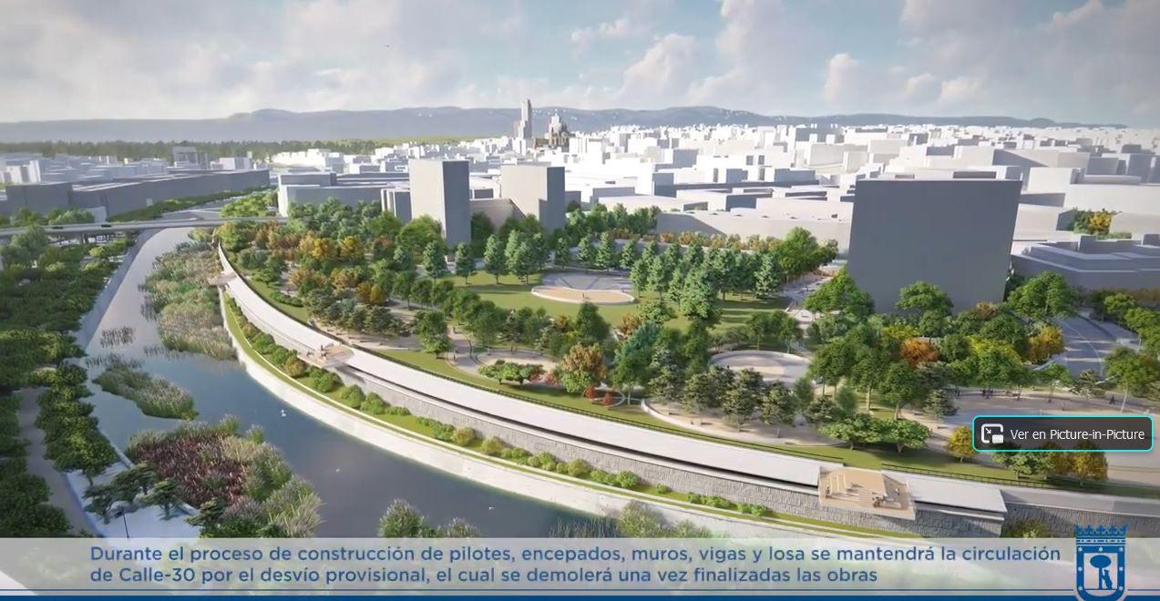 Proyecto de cubrición de la M-30 sobre el antiguo Vicente Calderón