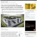 Una nueva promoción de lujosos pisos se gesta junto a la Castellana.
