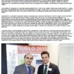 Grupo IBOSA recibe el Premio Suelo 2015  Jornada organizada por CESINE Grupo Editorial y Revista Metros2